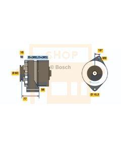 Bosch 0120489375 VW Alternator