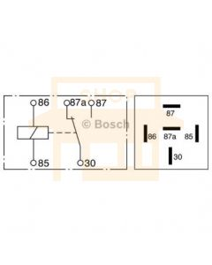 Bosch 0332209150 Mini Relay - Single