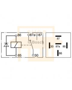 Bosch 0332209158 Mini Relay - Single