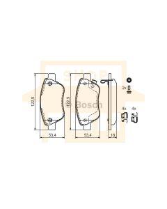 Bosch 0986494092 Brake Pad Set BP1002 - Set