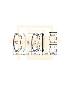 Bosch 0986494275 Brake Pad Set BP1187 - Set
