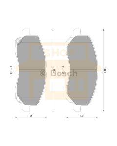 Bosch 0986AB2285 Brake Pad Set DB1441BL - Set