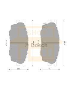 Bosch 0986AB2390 Brake Pad Set DB1682BL - Set