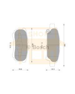 Bosch 0986AB2754 Brake Pad Set DB1686BL - Set