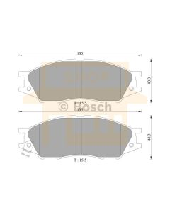 Bosch 0986AB3062 Brake Pad Set DB1454BL - Set