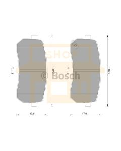 Bosch 0986AB3101 Brake Pad Set DB1957BL - Set